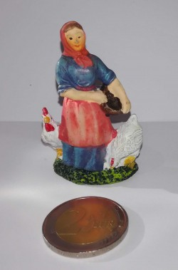 Figurina Presepe in plastica (cm 5,5) mendicante