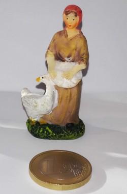 Figurina Presepe in plastica (cm 5,5) pecoraia mungitrice