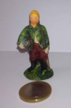 Figurina Presepe in plastica (cm 5,5) pescatore