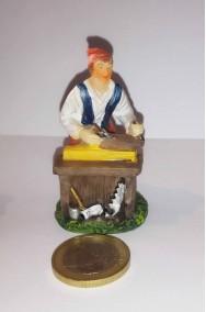 Figurina Presepe in plastica (cm 5,5) falegname