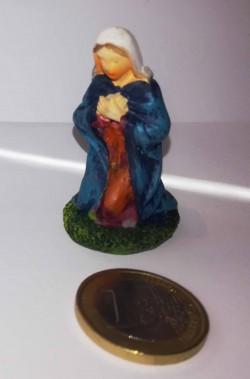 Figurina Presepe in plastica (cm 5,5) Madonna