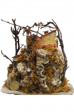 Casetta presepe artigianale realizzata a mano.Circa 17x19cm