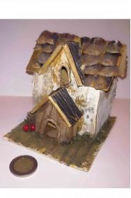 Casetta presepe artigianale realizzata a mano fienile