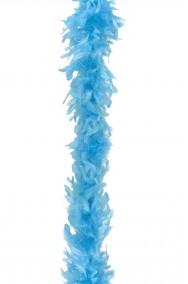 Boa di piume azzurro gr 45 circa 190 cm