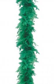 Boa di piume verde gr 60 circa 190 cm
