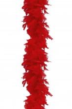 Boa di piume rosso gr 60 circa 190 cm