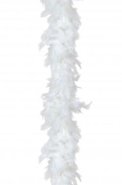 Boa di piume bianco gr 50 circa 190 cm