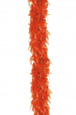 Boa di piume arancione gr 45 cm 190 circa