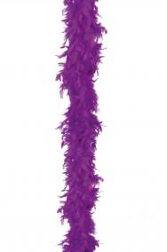 Boa di piume viola gr 45 circa 190 cm