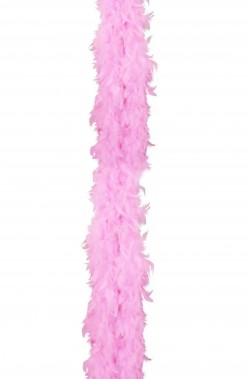 Boa di piume rosa gr 50  circa 190 cm