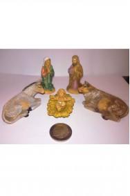 Figurina Presepe in plastica set nativita' completa 10cm