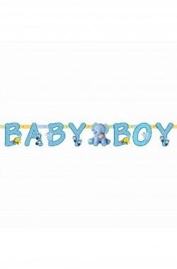 Festone decorativo nascita bambino Baby Boy
