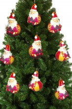 Decorazioni per albero di natale 9 palle in gesso a forma di babbo natale