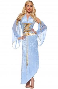 Costume dama medievale donna adulta, elfa celtica,