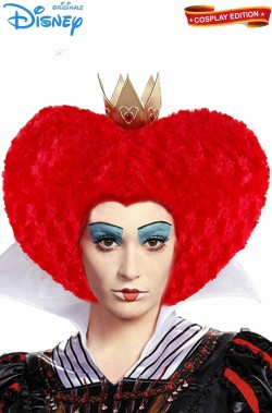 Parrucca donna regina di cuori originale disney lusso