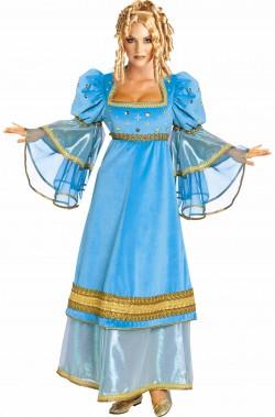 Costume fata turchina o dama nobildonna medievale