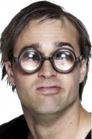 Occhiali studente o Nerd o Puffo con lente ingrandimento