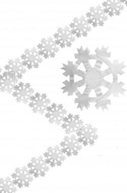 Striscione ghirlanda festone di Natale in carta con fiocchi di neve