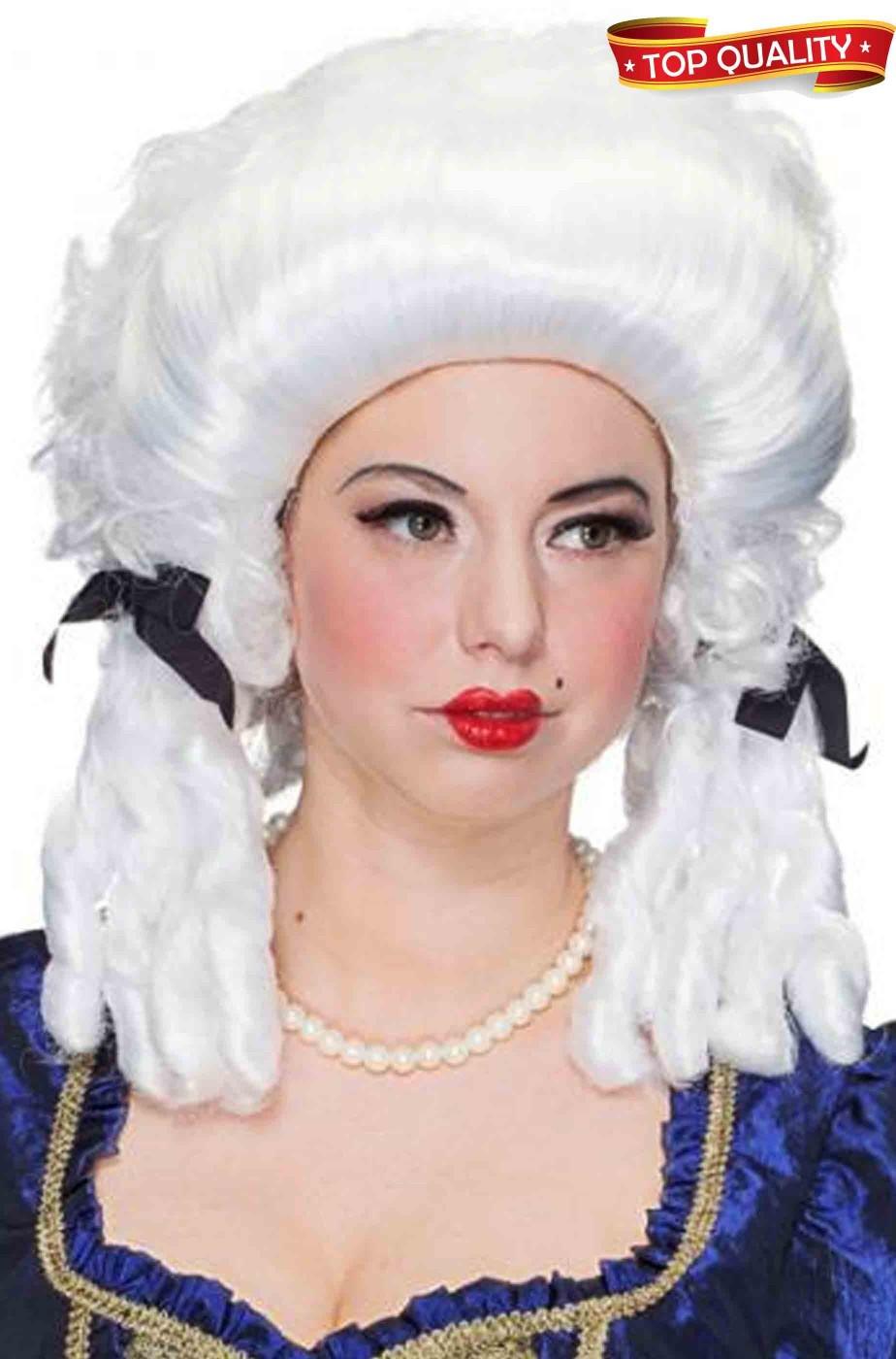 Parrucca bianca Carnevale Veneziano Barocca Rococo adulta con boccoli d6d180d80be
