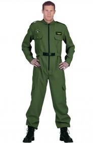 Costume uomo divisa da pilota da caccia o da elicottero