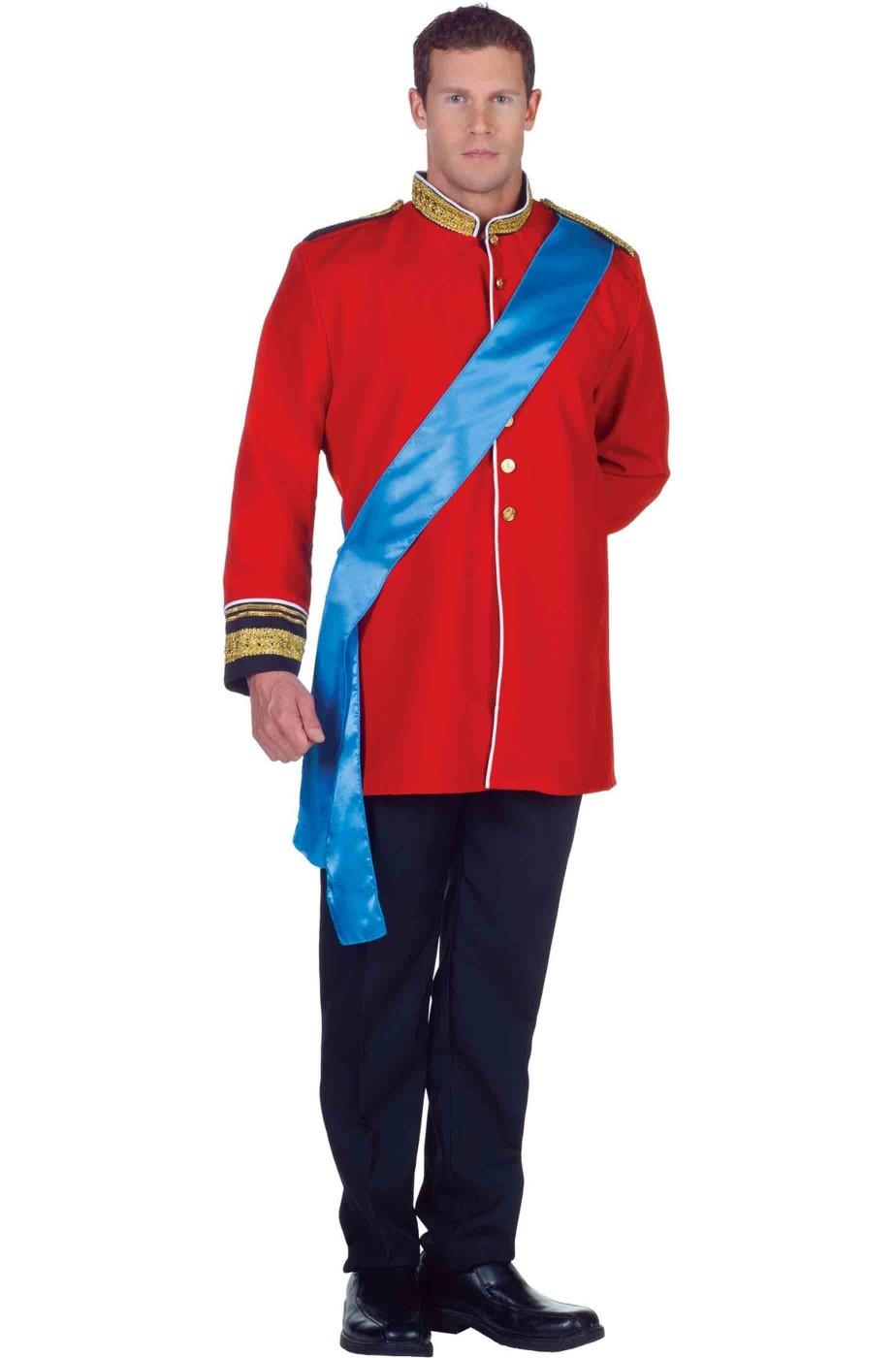 Royal Adulto Principe William Giacca Costume Da Uomo Militare