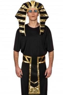 Cappello egiziano e cintura da faraone