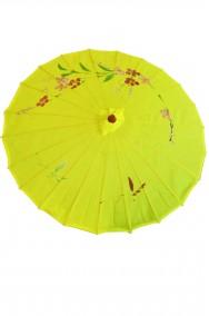 Ombrello parasole cinese o giapponese geisha circa 82 cm giallo