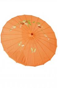 Ombrello parasole cinese o giapponese geisha circa 82 cm arancio