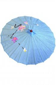 Ombrello Parasole cinese o giapponese geisha circa 82 cm azzurro