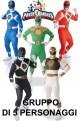 Gruppo cinque Power Rangers 2nd skin 5 personaggi