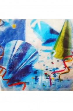 Carnival Party Cappellini e Stelle Filanti Tovaglioli di carta 20pz 33x33