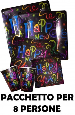 Happy New Year Black Capodanno pacchetto per 8 persone