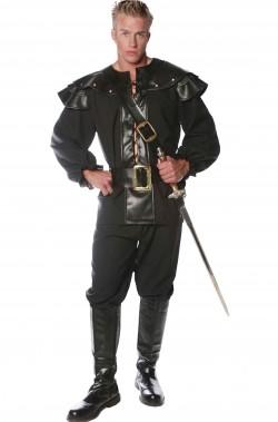 Costume medievale con paraspalle e gorgiera