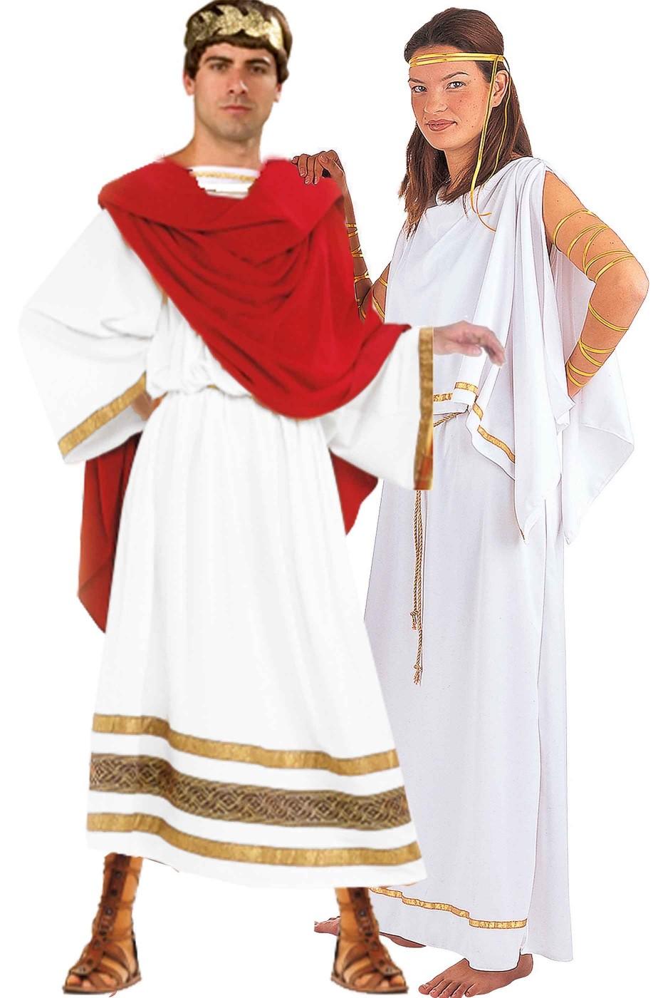 coppia di costumi da senatori romani lui e lei di qualità superiore 17f1d5ae9bd