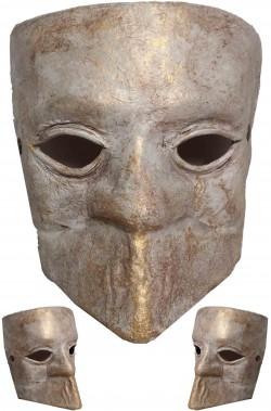 Maschera Bauta in cuoio realizzata a mano