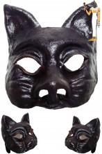 Maschera Dio Egizio Anubi Sciacallo in cuoio realizzata a mano