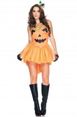 Costume donna zucca di Halloween