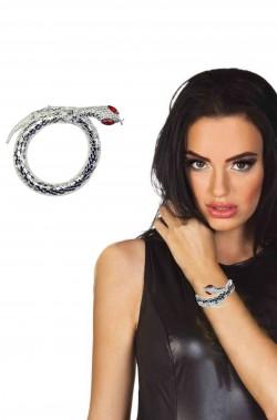 Bracciale braccialetto di metallo a forma di serpente
