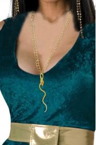 Collana lunga egiziana Cleopatra con pendente a serpente
