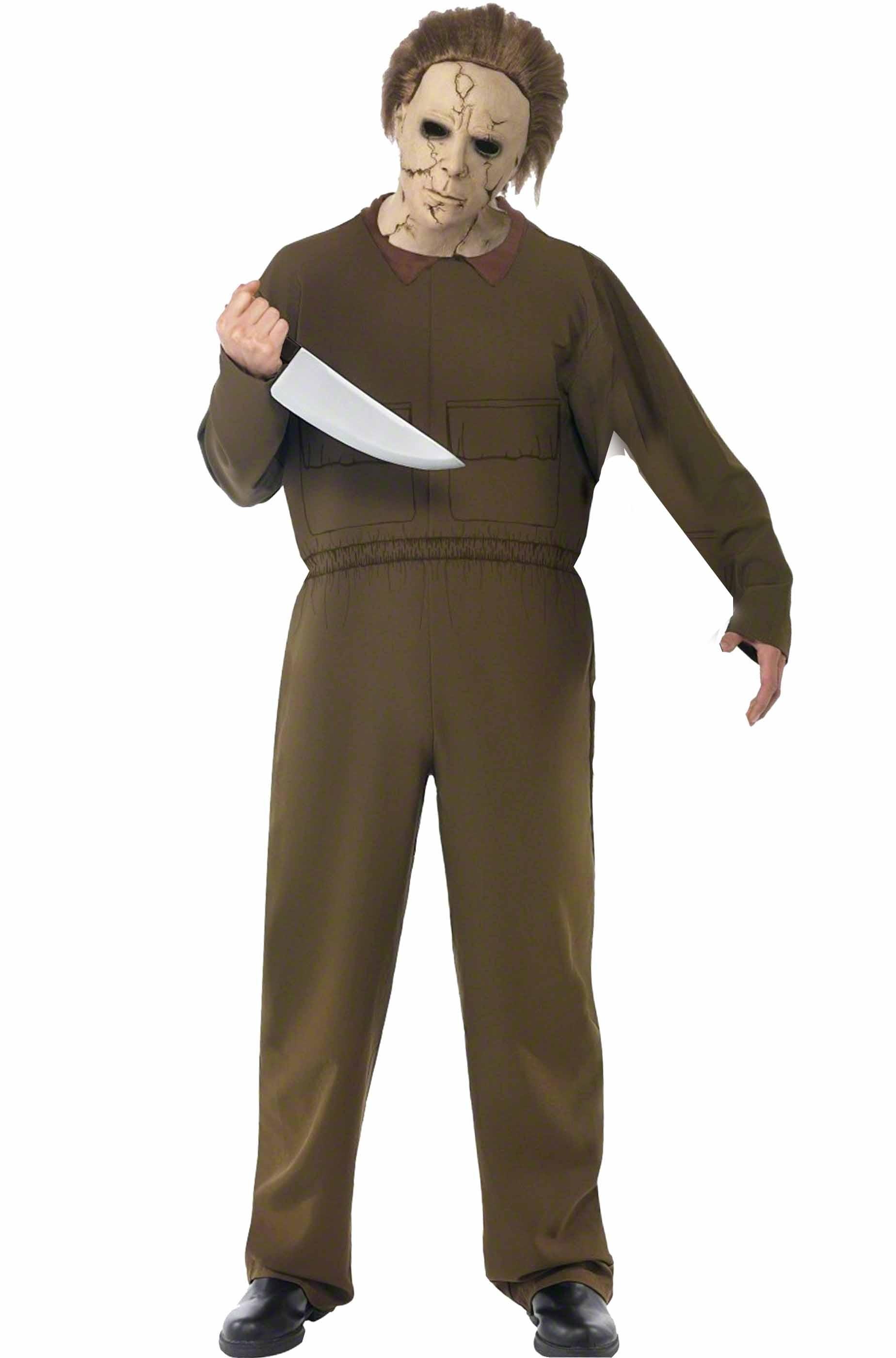 Dimensioni XXXL 190-195cm Maschera e Coltello Perfetto per Carnevale e Halloween thematys Set di Costumi per Film Horror Michael Myers incl