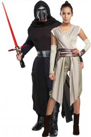 Coppia di Costumi Star Wars Kylo Ren e Rey