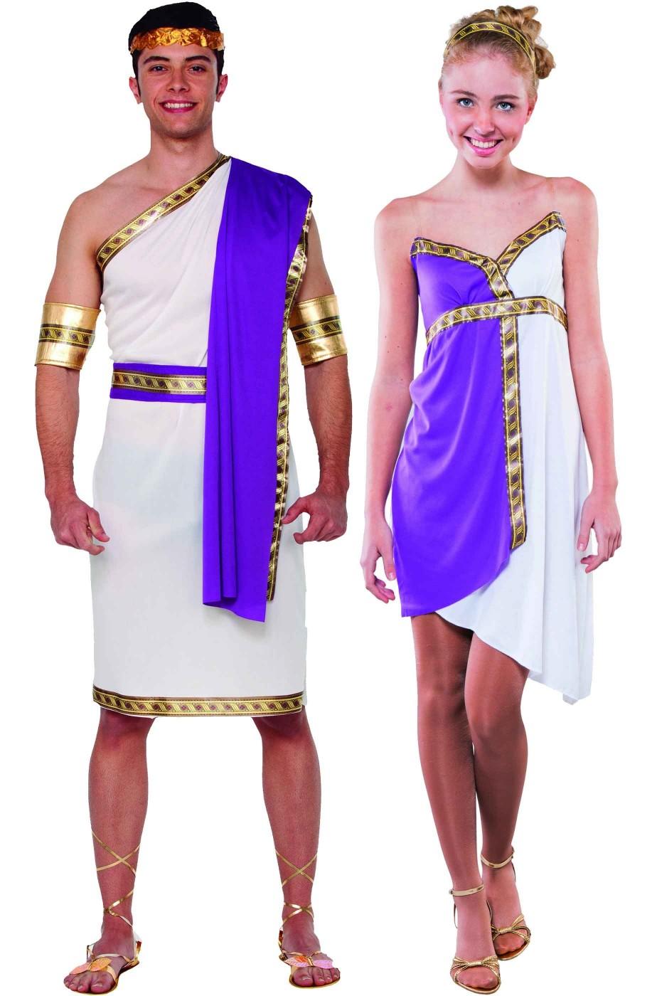 Coppia di costumi antichi romani o greci per Carnevale e toga party 611ddbb611e