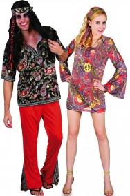 Coppia di Costumi anni 70 psichedelici Woodstock figli dei fiori