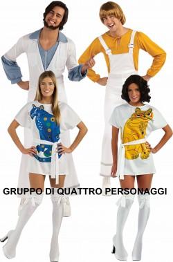Gruppo di Costumi anni 70 Gli ABBA