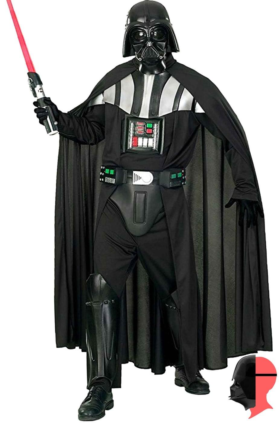 Costume Darth Vader Darth Fener De Luxe NON INCLUDE SPADA