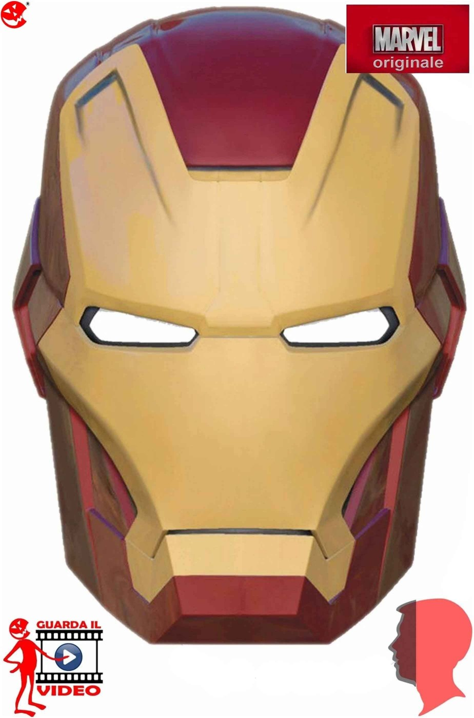 Maschera adulto in pvc Iron Man 3 Mark 42