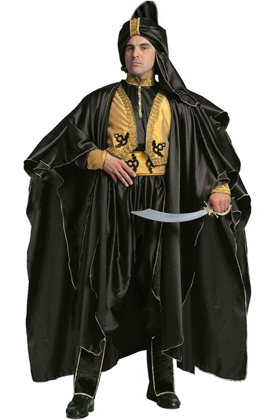 Vestito di carnevale Principe Arabo Sultano Saladino Jafar
