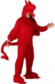 Costume drago rosso adulto