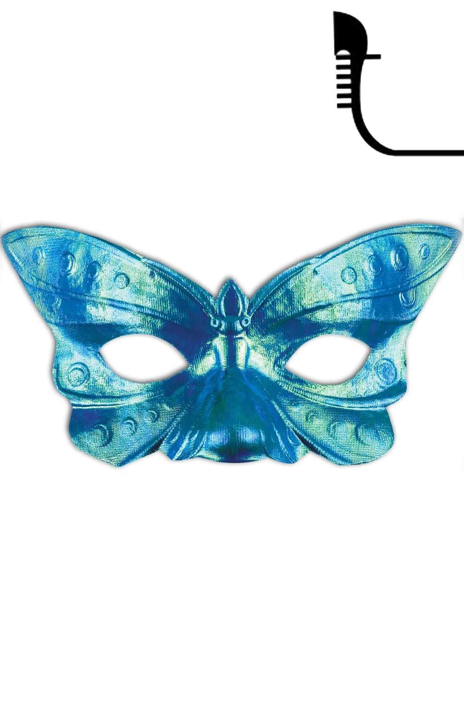 Maschera di carnevale stile veneziano antico a farfalla