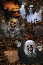 Pacchetto offerta decorazioni festa pirati da giardino: tre scheletri di pirata che escono da terra 53cm